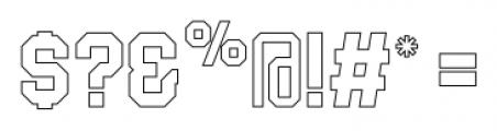 Blockletter Outlines Font OTHER CHARS