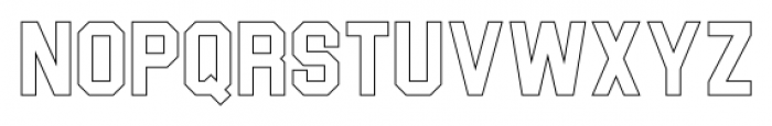 Blockletter Outlines Font LOWERCASE