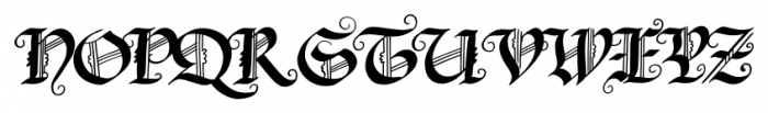 Blonde Fraktur Regular Font UPPERCASE