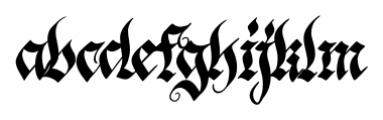 Blonde Fraktur Regular Font LOWERCASE