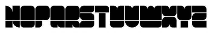 Blox Horizontal Font UPPERCASE