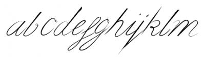 bluebird Regular Font LOWERCASE