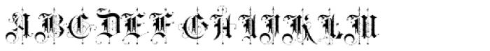 BLAQ Rough Font LOWERCASE