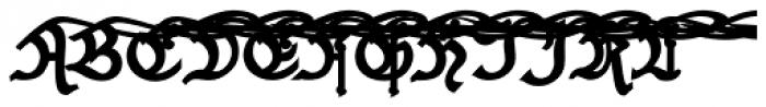 Black And Beauty Black Alt Caps Font UPPERCASE