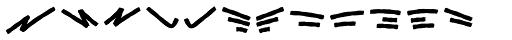 Black Animal Swash Font UPPERCASE