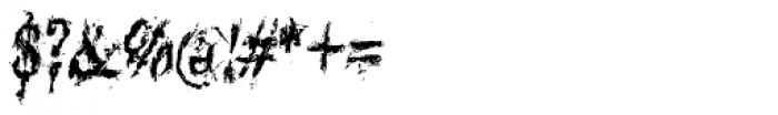 Black Asylum Condensed Italic Font OTHER CHARS
