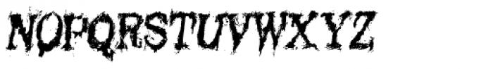 Black Asylum Condensed Italic Font UPPERCASE