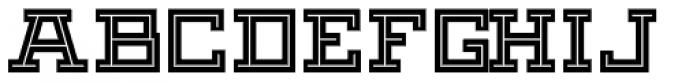 Black Bear Inline Font UPPERCASE