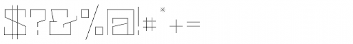 Black Bear Thin Font OTHER CHARS