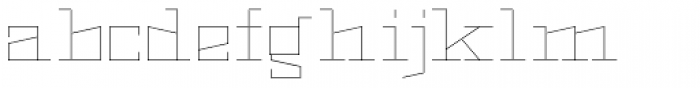 Black Bear Thin Font LOWERCASE