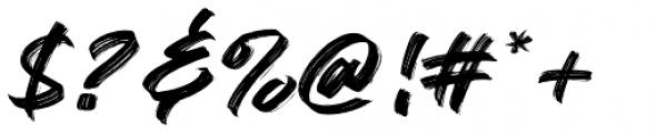 Black Bruno Regular Font OTHER CHARS