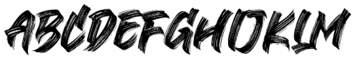 Black Bruno Regular Font UPPERCASE