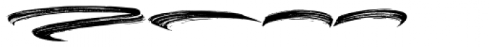 Black Bruno Swash Font LOWERCASE