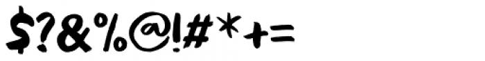 Black Cluster Font OTHER CHARS