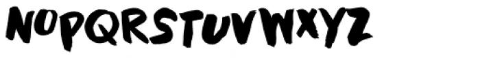 Black Cluster Font UPPERCASE