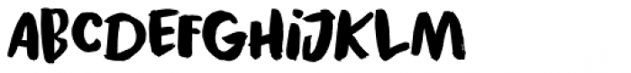 Black Cluster Font LOWERCASE
