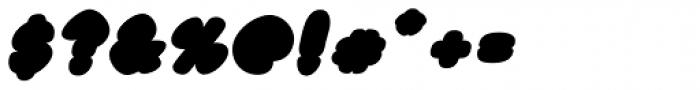 Black Damon Italic Font OTHER CHARS
