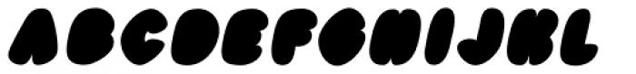 Black Damon Italic Font UPPERCASE