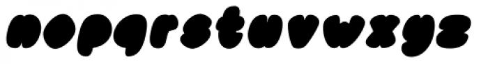 Black Damon Italic Font LOWERCASE
