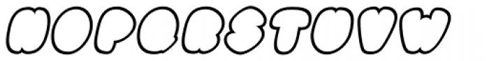 Black Damon Outline Italic Font UPPERCASE