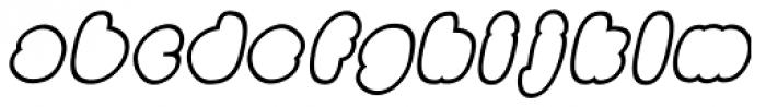 Black Damon Outline Italic Font LOWERCASE