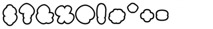 Black Damon Outline Font OTHER CHARS
