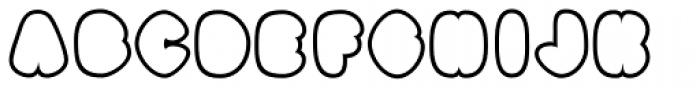 Black Damon Outline Font UPPERCASE