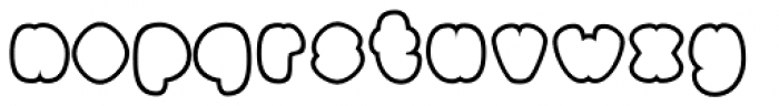 Black Damon Outline Font LOWERCASE