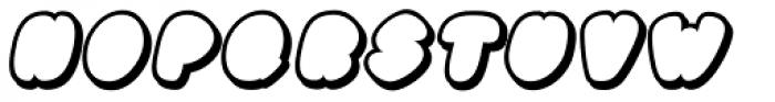 Black Damon Shadow Italic Font UPPERCASE