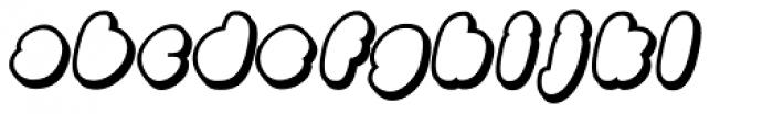 Black Damon Shadow Italic Font LOWERCASE