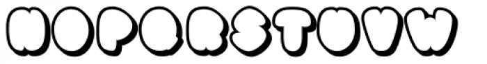Black Damon Shadow Font UPPERCASE