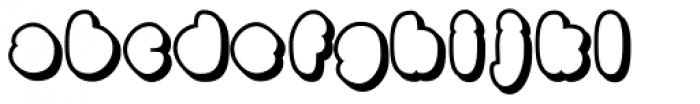 Black Damon Shadow Font LOWERCASE