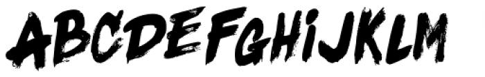 Black Fighter Sans Font UPPERCASE