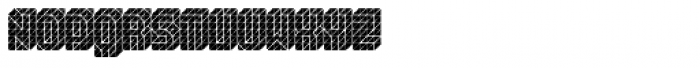 Black Isometric Font UPPERCASE