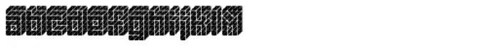 Black Isometric Font LOWERCASE