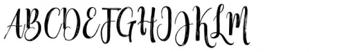 Black Line Regular Font UPPERCASE