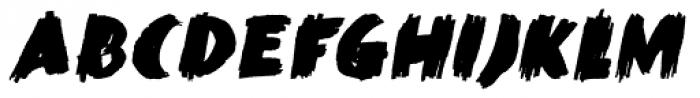 Black Mark Italic Font UPPERCASE