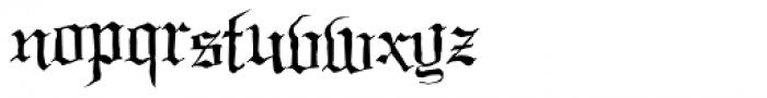Black Night Font LOWERCASE