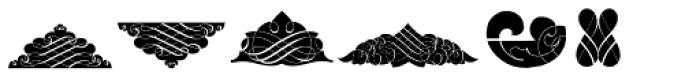 Black Ornaments Three Font UPPERCASE