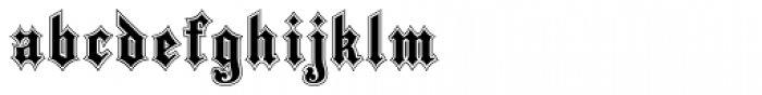 Black Pearl Font LOWERCASE