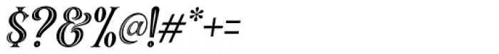 Black Quality Holed Italic Font OTHER CHARS