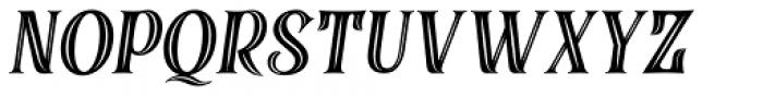 Black Quality Holed Italic Font UPPERCASE