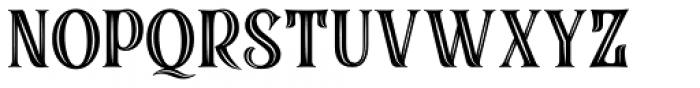 Black Quality Holed Font UPPERCASE