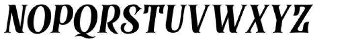 Black Quality Italic Font UPPERCASE