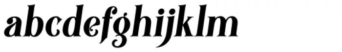 Black Quality Italic Font LOWERCASE