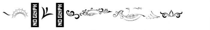 Black Quality Ornament Font OTHER CHARS