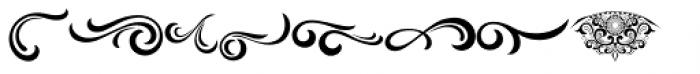 Black Quality Ornament Font UPPERCASE