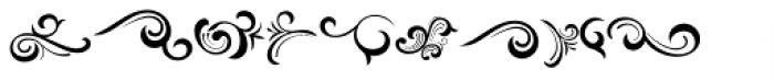 Black Quality Ornament Font LOWERCASE