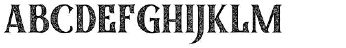 Black Quality Rough Font UPPERCASE