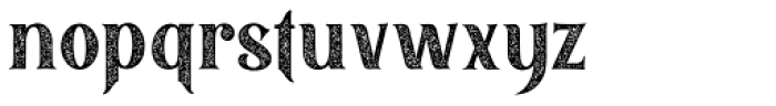 Black Quality Rough Font LOWERCASE